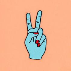 we get the best alien vibes from this blue peace sign, its perfect for our patch collection   ban.do