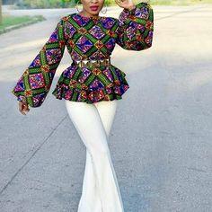 Exclusive and Juicy Ankara Fashion Tops; Trendy Styles for Ladies - DeZango Fashion Zone Exclusive and Juicy Ankara Fashion Tops; Trendy Styles for Ladies - DeZango Fashion Zone African Inspired Fashion, African Print Fashion, Africa Fashion, African Fashion Dresses, Ankara Fashion, African Prints, Ankara Tops Blouses, Ankara Peplum Tops, Ankara Blouse