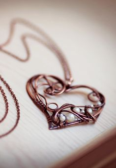 Heart pendant with pearls by Ursula Jewelry.
