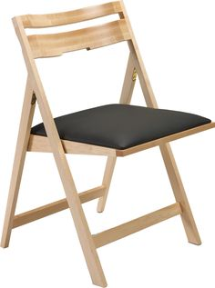 SCOOP-UP: Wood Folding Chair with Upholstered Seat | Peter Pepper Products | Expressive Essentials®