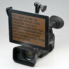 Matthews Universal Tablet Mount (MUT) - Master Kit Telepromper App: http://appadvice.com/appguides/show/teleprompter-apps