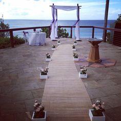 Wedding Ceremony at Pat Fagan Park Coolangatta  Styling by www.breezeweddings.com.au #patfaganpark #greenmount #weddinggreenmount #coolangattawedding #greenmountlookout #wedding #patfaganparkwedding #bambooarbor #bambooarch #bambooweddingarch #breezeweddingsaustralia