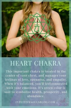 Heart chakra meaning. Learn more awesome chakra and psychic development stuff at intuitivesoulsblog.com.
