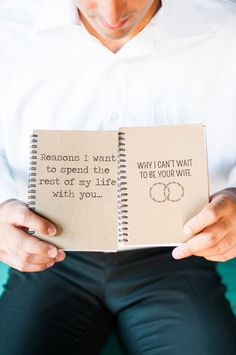 Have bride and groom write in and exchange on wedding day Wedding Songs, Wedding Themes, Diy Wedding, Dream Wedding, Wedding Day, Wedding Dreams, My Perfect Wedding, San Diego Wedding, Island Weddings