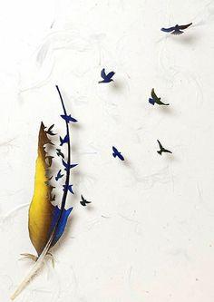 Feather Art by Chris Maynard