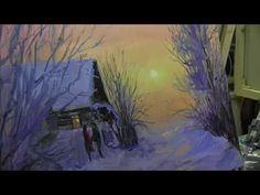 Игорь Сахаров, зимний пейзаж маслом - YouTube