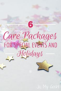 Great care package ideas for special events & holidays. Promotions, St. Patrick's Day, Father's Day, etc.