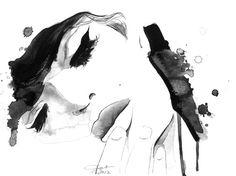 Aquarelle et plume Fine Art Print Jessica par JessicaIllustration