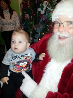 West with Santa, Christmas 2012