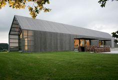 The Barn House, grey timber 1 level contemporary barn style house