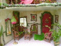 Rose Red Fairy House by Julie McLaughlin, via www.dollhouseminis.blogspot.com