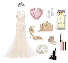 """""""Fit For a Princess"""" by katyelange on Polyvore featuring AERIN, Jimmy Choo, Oscar de la Renta, Topshop, Clarins, Elie Saab, Bloomingdale's, Vincent Longo, women's clothing and women"""