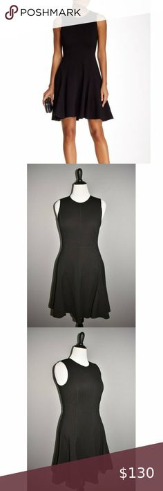 """HALSTON HERITAGE NEW Ponte Fit & Flare Dress HALSTON HERITAGE NEW $375 Black Ponte Stretch Fit & Flare Dress Size 12 New With Tags Brand: Halston Heritage Size: 12 Chest: 36""""-40"""" Waist: 33""""  Length: 39"""" Unlined Zips in back Seam detail Style # NPT050750 67% Viscose / 28% Nylon 5% Elastane     #65 Halston Heritage Dresses Halston Heritage Dress, Fit Flare Dress, Fashion Tips, Fashion Trends, Fashion Design, Size 12, Tags, Detail, Womens Fashion"""
