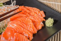 Atlantic Salmon (Frozen, farm raised) One order has four packs (Approx. 5 Lbs total, actual weight may vary plus or minus Premium grade for Sashimi and Sushi B Food, Food Menu, Love Food, Food Porn, Tuna Food, Sushi Recipes, Asian Recipes, Ethnic Recipes, Dessert Sushi