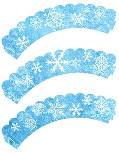 Instant Download!! Frozen Birthday Party Cupcake wrappers JPEG 300 dpi Printable DIY snow flakes disney Olloff Anna Elsa Winter wonder land on Etsy, $4.00