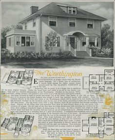 images about Floor plans on Pinterest   Kit Homes  Aladdin     Aladdin Colonial Revival   Kit House   The Worthington