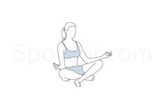 The easy pose relaxes and soothes the mind, reduces stress and anxiety levels, and promotes calm and serenity. This pose also improves spinal alignment, stretches the knees and ankles, and relieves hip tension. http://www.spotebi.com/exercise-guide/sukhasana/