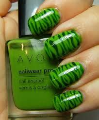 Zebra nails. 20% OFF your $50 order at youravon.com/yuri with promo code welcome
