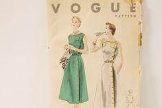 Vintage 1953 Vogue One piece Dress Pattern 7992 by JaanasVintage, $10.00
