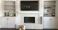 6 Cheap And Easy Useful Ideas: Living Room Remodel With Fireplace Bookshelves livingroom remodel before and after.Living Room Remodel With Fireplace Bookshelves small living room remodel benjamin moore.Living Room Remodel With Fireplace French Doors. Fireplace Mantle Designs, Brick Fireplace Mantles, Basement Fireplace, Brick Fireplace Makeover, Fireplace Built Ins, Paint Fireplace, Home Fireplace, Paint Brick, Stone Fireplaces