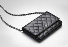 Chanel classic wallet bag, black