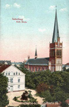 INSTERBURG Ostpreußen - Kath. Kirche