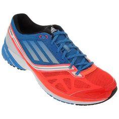 Tênis Adidas adizero Tempo Prime – Azul e Vermelho - http://batecabeca.com.br/tenis-adidas-adizero-tempo-prime-azul-e-vermelho-netshoes.html