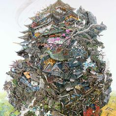 Master of Pen and Ink: The Monumental Drawings of Manabu Ikeda painting