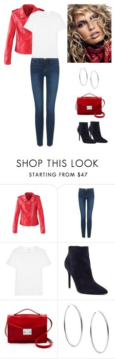 """Down Town Saturday Night"" by dezaval ❤ liked on Polyvore featuring Frame Denim, Yves Saint Laurent, Stuart Weitzman, Loeffler Randall and Michael Kors"