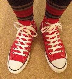 How to Bar Lace Converse Chuck Taylor's How To Lace Converse, Custom Shoes, Diy Beauty, Chuck Taylors, Gladiator Sandals, Converse Chuck Taylor, High Tops, My Style, Outfits