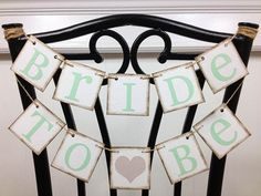 Bride To Be Banner  Mini Bride To Be Chair Sign  by ABannerAffair