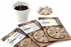 Seedcell on Packaging of the World – Einzelsaatgut in biologisch abbaubarer Schote - Geschenk Design Seed Packaging, Pretty Packaging, Garden Mats, Grow Kit, Packaging Design Inspiration, Design Packaging, Packaging Ideas, Growing Seeds, Biodegradable Products