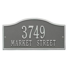 Personalized Whitehall Products Rolling Hills Standard Wall Address Plaque in Pewter/Silver