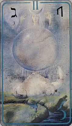 II - The High Priestess - The Haindl Tarot by Hermann Haindl