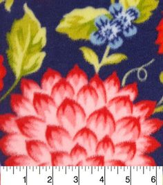 Anti Pill Fleece Fabric-Juliette Floral