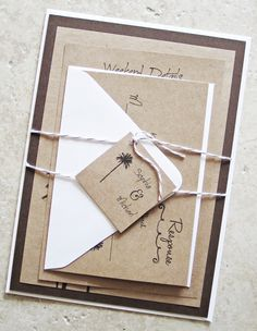 Rustic Palm Tree Wedding Invitation  Vintage by RiverCityStudio, $5.50