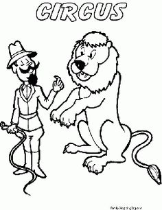 Lion Tamer Color Coloring Pages