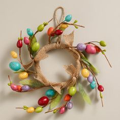 Mini Speckled  Egg Wreath at Cost Plus World Market at Cost Plus World Market >> #WorldMarket Easter Traditions, Easter Decor, Easter Entertaining