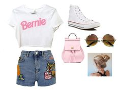 """""""Voting attire"""" by atchernychova ❤ liked on Polyvore featuring Topshop, Dolce&Gabbana and Converse"""