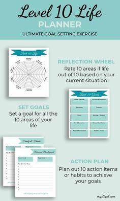 Life Balance Wheel, Wheel Of Life, Routine Printable, Printable Planner, Printables, Goals Planner, Life Planner, Self Development, Personal Development