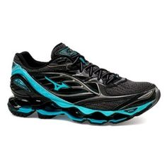 more photos a81cf e71aa Mizuno Prophecy 6 Feminino PretoAzul Tenis Mizuno, Waves, Black, Shoes,