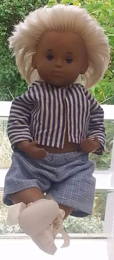 Vintage Sasha Toddler Blonde Hair Doll in Summer Shirt and Shorts in Dolls & Bears, Dolls, Clothing & Accessories, Vintage Dolls | eBay!