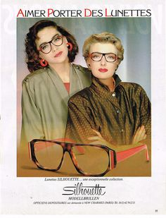 1986 Silhouette ad #gottalovethe80s Follow us on FaceBook! www.facebook.com/eyecarefortcollins