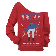 """Womens version of the Drake """"Hotline Bling"""" ugly sweater. You can find this one and more Hip-Hop ugly sweaters at: http://djshamann.com/hip-hop-ugly-christmas-sweaters/"""