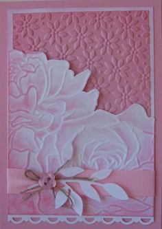 Gorgeous Pink Floral Card...with flower embossing...Ann Craig - Stampin' Up! Independent Demonstrator: Manhattan Flower.