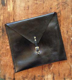 Oversized Leather Clutch Bag | Abbie Drue Designs