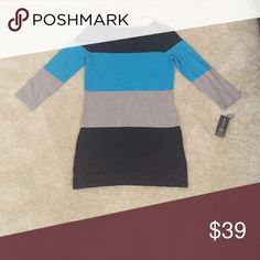 Colorblock sweater top New with tags INC International Concepts Sweaters Crew & Scoop Necks