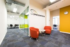 Concentrix, a global software and business services provider, required a fast track fit out throughout their new three-storey office. Software, Track, London, Business, Fitness, Room, Furniture, Design, Home Decor
