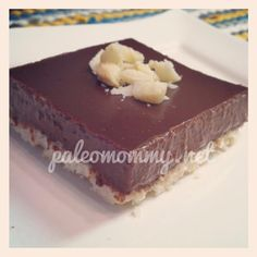 Chocolate Macadamia Nut Pie with a Coconut Crust  @Paleo Mommy