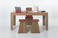 Cardboard furniture from Italy's kubedesign